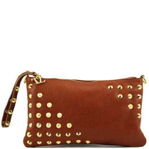 TL Rockbag Borsa con borchie sul manico - Piccola Cognac TL141123
