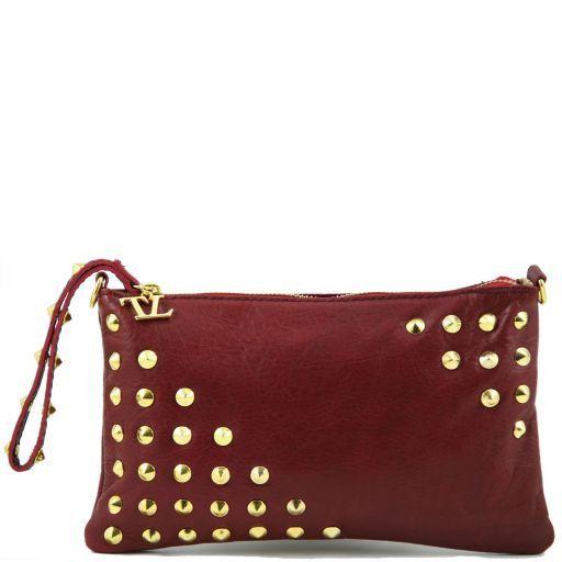 TL Rockbag Borsa con borchie sul manico - Piccola Rosso TL141123