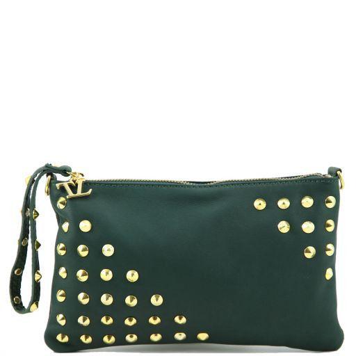 TL Rockbag Borsa con borchie sul manico - Piccola Verde Foresta TL141123