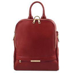 TL Bag Mochila para mujer en piel suave Rojo TL141376