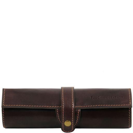 Exclusive leather pen holder Dark Brown TL141620