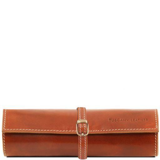 Exclusive leather jewellery case Honey TL141621