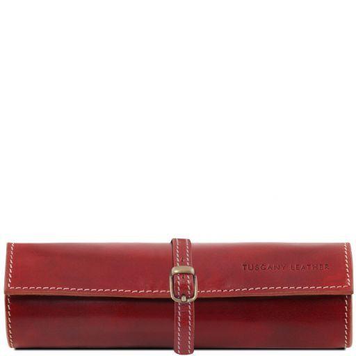 Exclusif trousse à bijoux en cuir Rouge TL141621