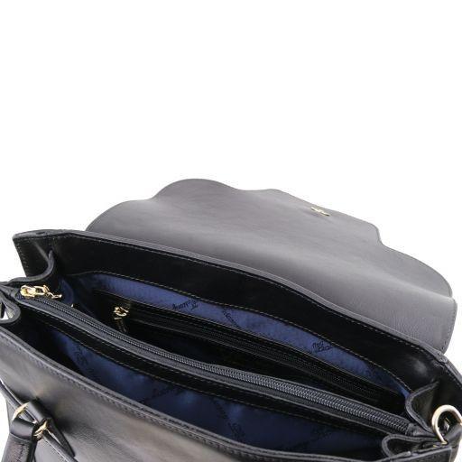 TL NeoClassic Sac à main en cuir avec fermoir twist Noir TL141230