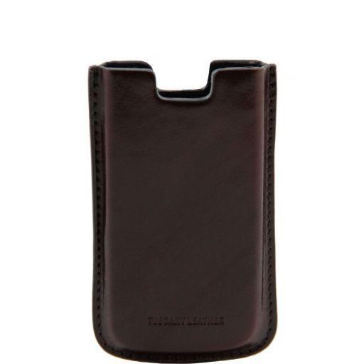 Esclusivo porta iPhone SE/5s/5 in pelle Testa di Moro TL141128