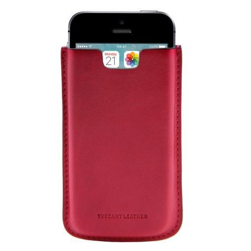 Эксклюзивный кожаный чехол для iPhone SE/5s/5 Розовый TL141128