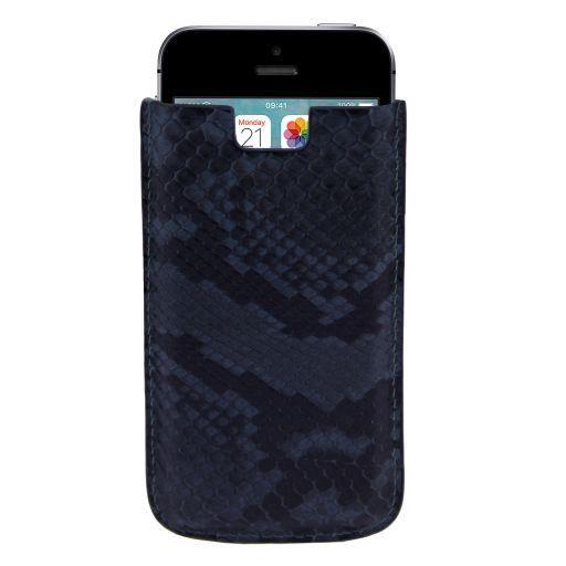 Эксклюзивный чехол для iPhone SE/5s/5 из кожи питона Синий TL141130