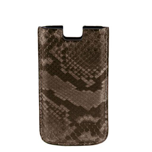 Esclusivo porta iPhone SE/5s/5 in vero pitone Canna di fucile TL141130