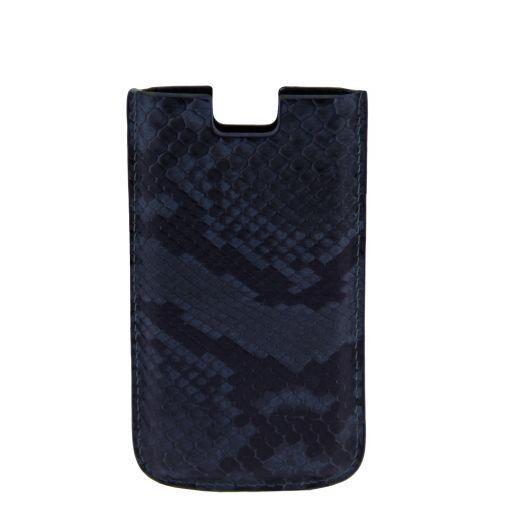 Esclusivo porta iPhone SE/5s/5 in vero pitone Blu TL141130