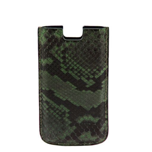 Эксклюзивный чехол для iPhone SE/5s/5 из кожи питона Темно-зеленый TL141130
