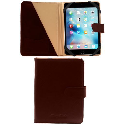 Porta iPad Mini 4 in pelle con bottone Testa di Moro TL141171