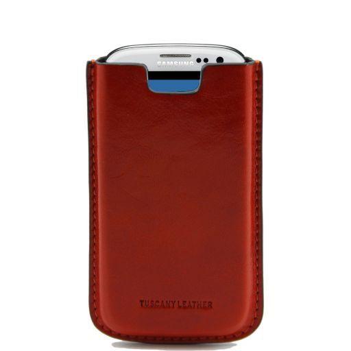 Esclusivo porta Galaxy S3 in pelle Arancio TL141140