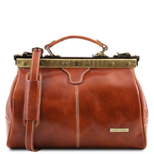 Michelangelo Doctor gladstone leather bag Honey TL10038