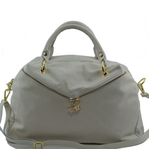 Audrey Duffle leather bag Beige TL141148