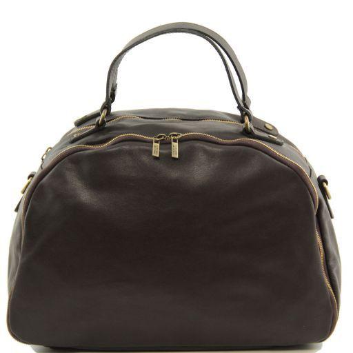 TL Sporty Leather Weekend Bag Dark Brown TL141149