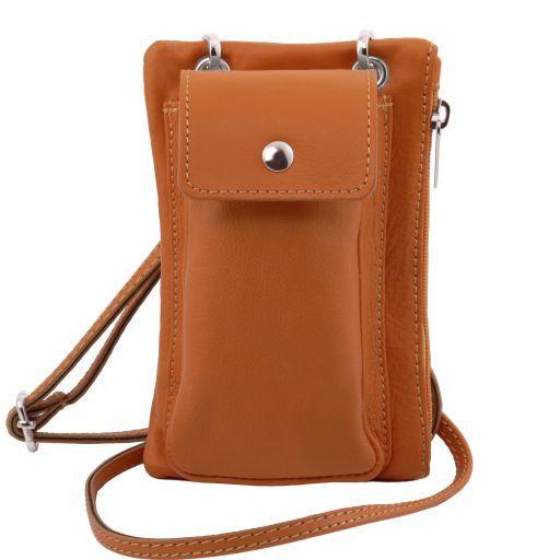 TL Bag Bolsillo Porta móvil en piel suave Cognac TL141423