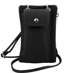 TL Bag Sac bandoulière pour portable en cuir souple Noir TL141423