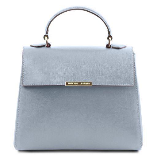 577c7fb7b4afd TL Bag Kleine Bauletto Tasche aus Saffiano Leder Himmelblau TL141628