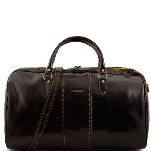 Lisbona Дорожная кожаная сумка-даффл Темно-коричневый TL10131