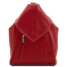 Delhi Leather backpack Red TL140962