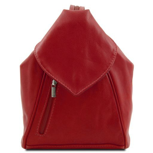 Delhi Leather backpack Red TL140962
