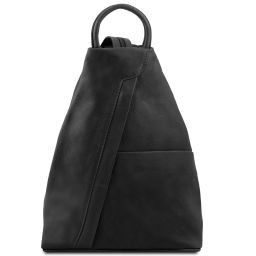 Shanghai Leather backpack Black TL140963