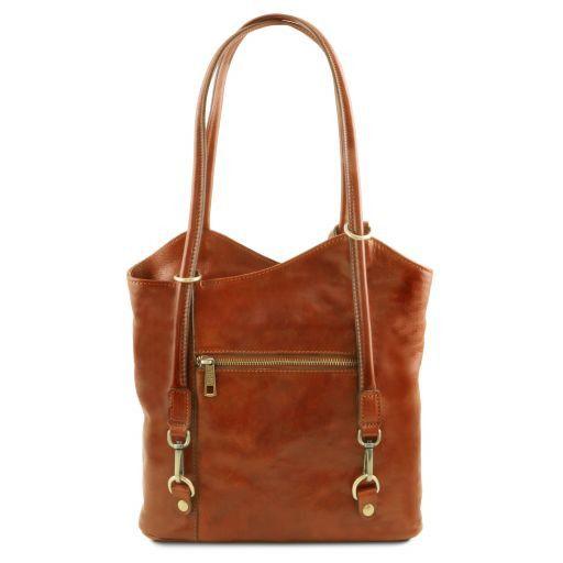 Patty Женская кожаная сумка-рюкзак 2 в 1 Мед TL141497