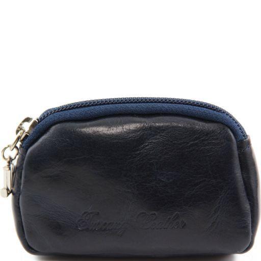 Esclusiva bustina portachiavi in pelle Blu TL141154