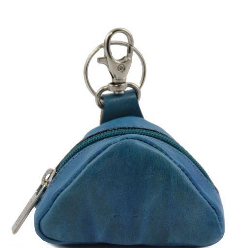 Esclusiva bustina portachiavi in pelle Triangolo Azzurro TL141155