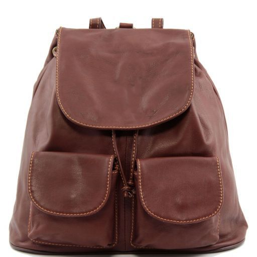 Seoul Leather backpack Large size Brown TL90142