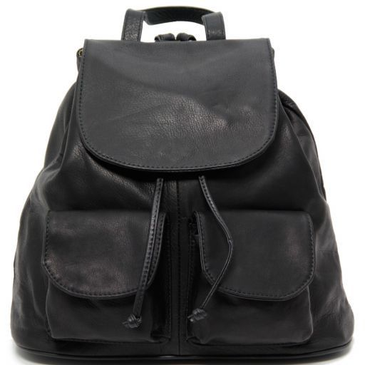 Seoul Leather backpack Large size Black TL90142
