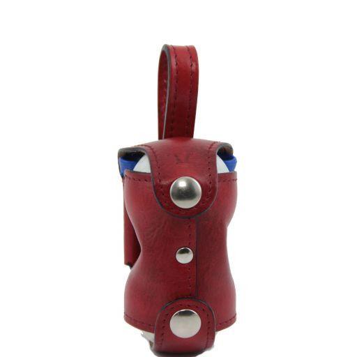 Porta bolas de golf en piel 2 bolas Rojo TL141159