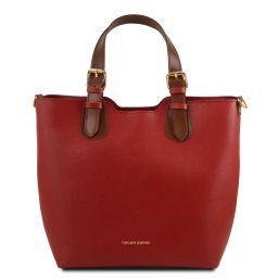 TL Bag Borsa a mano in pelle Saffiano Rosso TL141696