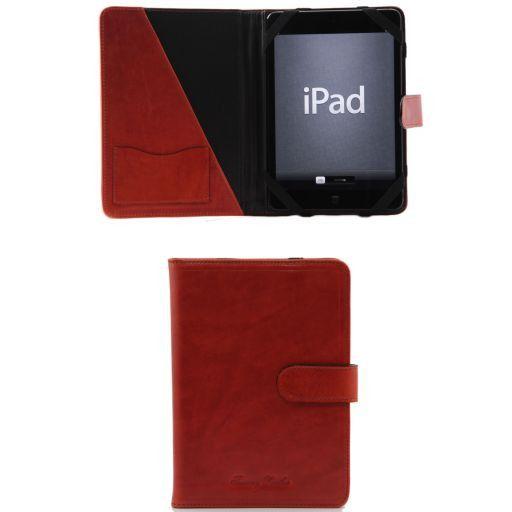 Porta iPad Mini 4 in pelle con bottone Arancio TL141171