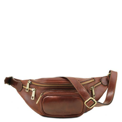 Leather Fanny Pack Brown TL141305 6e060fcbf1a2c