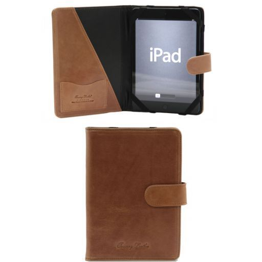 Leather iPad Mini 4 case with snap button Honey TL141171