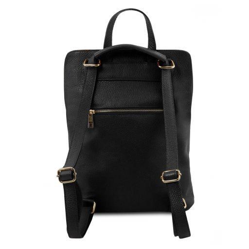 tl bag sac dos pour femme en cuir souple noir tl141682. Black Bedroom Furniture Sets. Home Design Ideas