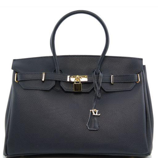 TL Bag Borsa a mano media con accessori oro Blu TL141174