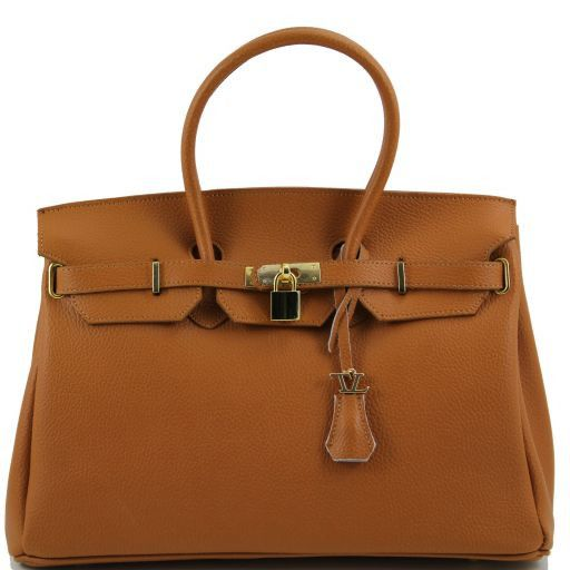 TL Bag Borsa a mano media con accessori oro Cognac TL141174