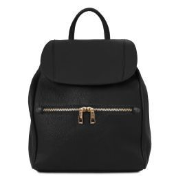 TL Bag Zaino donna in pelle morbida Nero TL141697