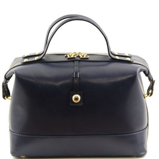 TL Bag Bauletto medio in pelle Blu TL141190