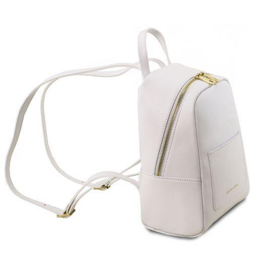 TL Bag Zaino piccolo in pelle Saffiano da donna Bianco TL141701