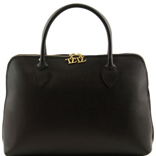 TL Bag Saffiano leather woman business bag Black TL141195