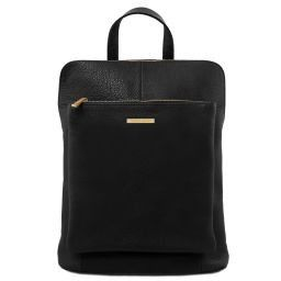 TL Bag Zaino donna in pelle morbida Nero TL141682