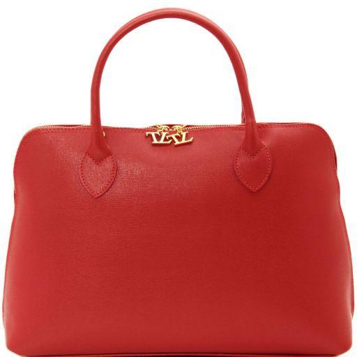 TL Bag Borsa business per donna in pelle Saffiano Rosso TL141195