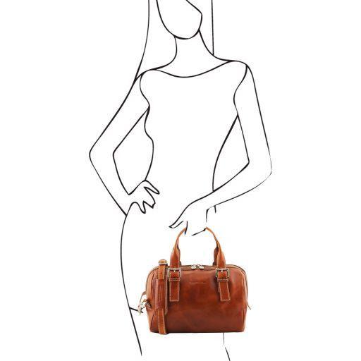Eveline Leather duffle bag Мед TL141714