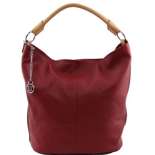 TL Bag Sac secchiello pour femme en cuir Rouge TL141201