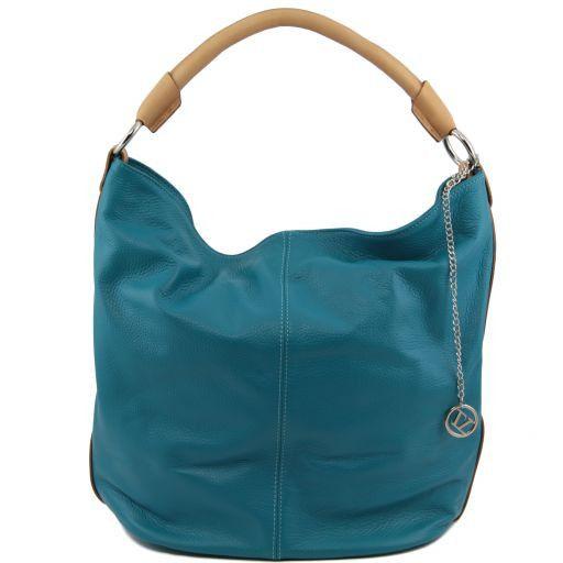 TL Bag Borsa secchiello da donna in pelle Turchese TL141201