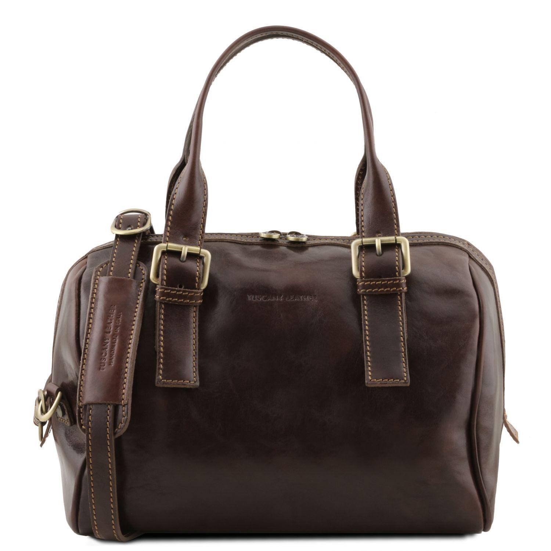 eveline leather duffle bag dark brown tl141714. Black Bedroom Furniture Sets. Home Design Ideas