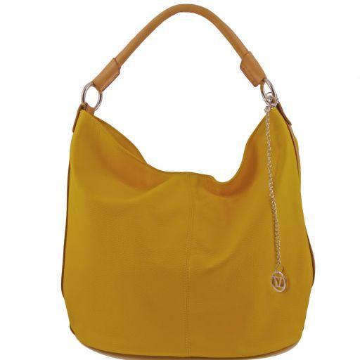 TL Bag Borsa secchiello da donna in pelle Giallo TL141201